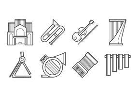 Vettore libero dell'icona dello strumento di musica