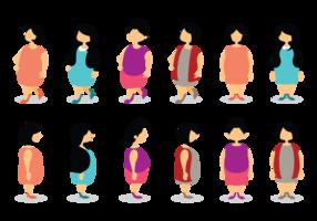 cartone animato di dimensioni più ragazze