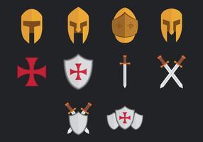 Icona Templare vettore