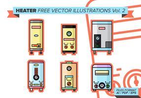 Riscaldatore Illustrazioni vettoriali gratis vol. 2