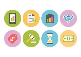 Set di icone gratis di affari e finanza vettore