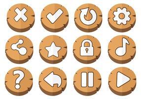 Vettore delle icone del bottone di arcade