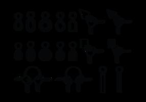 Icone di catene chiave vettore