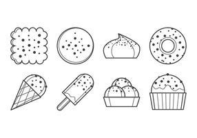 Vettore dolce dell'icona del dessert dolce