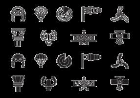 Icone di aviazione biplano