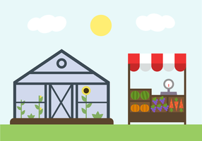 Vettore gratis degli elementi dell'azienda agricola
