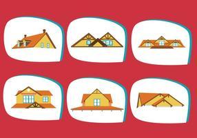 Vettore di tetti classici