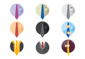 icone di cravatta vettoriale