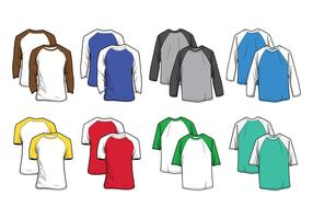 vettore di t-shirt raglan