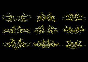 Vettori di icona ornamento gessati