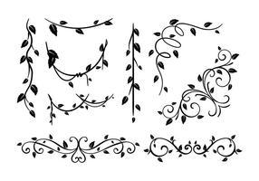 Liana in bianco e nero vettoriale
