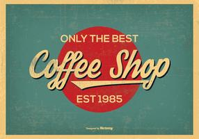 Retro fondo della caffetteria di stile dell'annata