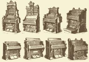 Organi per pipa antichi vettore