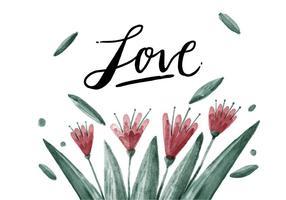 Vettore di fiori gratis dell'acquerello