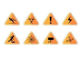 Vettore dell'icona del segno di avvertenza