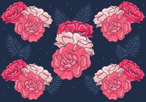 Sfondo floreale rosso vettore