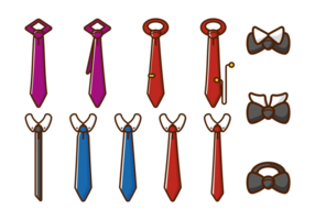 Cravatta icone vettoriali