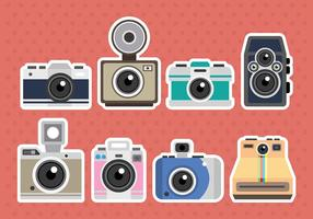 Icone vettoriali di fotocamera