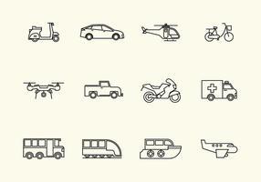 Icona di vettore del veicolo