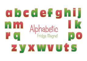 Insieme di vettore di alfabeto del magnete del frigorifero