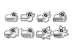 vettore di simbolo animale mayan del fumetto libero