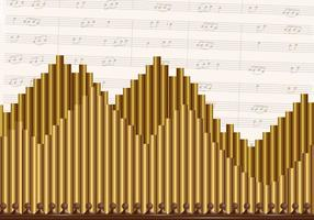 Pipe Organ Church Background musicale vettore