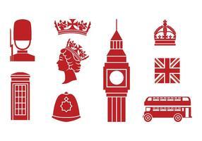 Icone dell'Inghilterra gratuite vettore