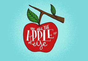vettore della mela del mio occhio