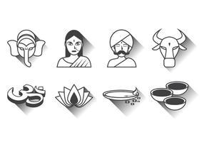 vettore icona india