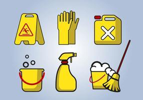 Vettore degli strumenti di servizio di pulizia