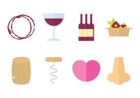 Design piatto icona del vino
