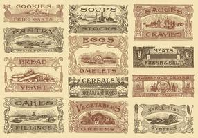 Intestazioni di ricette vintage