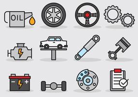Icona di servizio auto carina vettore