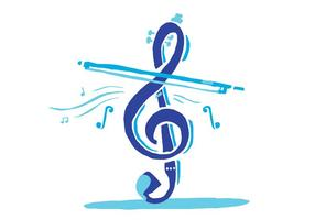chiave di violino blu
