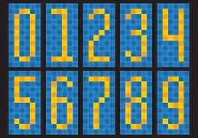 Numeri di piastrella vettore