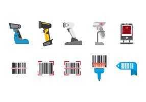 Vettore gratuito di scanner di codici a barre