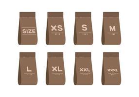 Etichetta di dimensioni del tessuto vettore