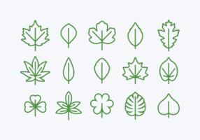 Set di icone di Hojas