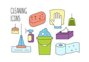 Icone vettoriali gratis di pulizia