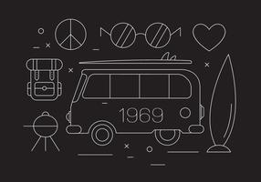Illustrazione vettoriale di hippy gratis