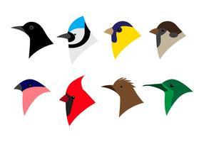 Vettore dell'icona della testa dell'uccello