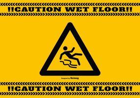 Priorità bassa di attenzione del pavimento bagnato