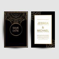 carte di nozze di lusso vettore