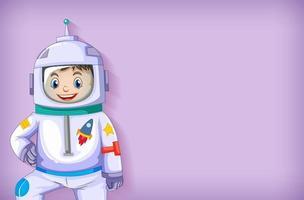 bambino astronauta sorridente