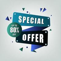 '' offerta speciale '' banner blu vettore