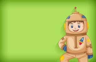 sfondo semplice con l'astronauta in abito marrone