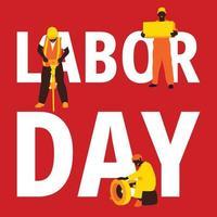 sfondo festa del lavoro in rosso vettore