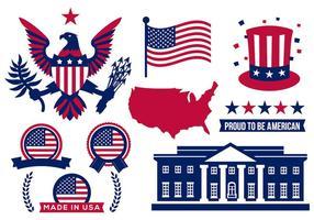 Vettore delle icone dell'America