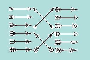flechas line arrows vettore