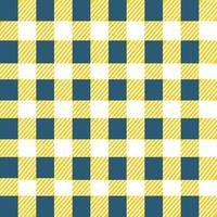 modello senza cuciture plaid a scacchi diagonale blu e giallo